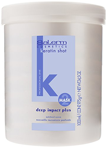 Salerm Cosmetics Keratin Shot Deep Impact Plus Mascarilla - Blanco, 1000 ml