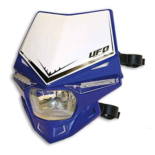 UFO - Plaque Phare Moto Stealth Bleu Reflex 12V-35W