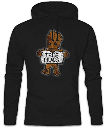 Urban Backwoods Tree Hugs Hoodie Kapuzenpullover Sweatshirt Schwarz Größe XL