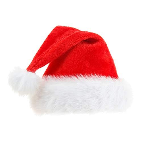 Almencla Novedad Felpa Papá Noel Sombrero de Navidad Disfraz de Navidad Fiesta de Disfraces Suministro