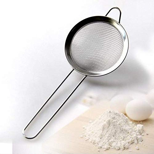 Wellehomi Food Strainer Stainless Steel Fine Mesh Strainer Professional Bar Kitchen Tool Conical Food Strainers 3 inch