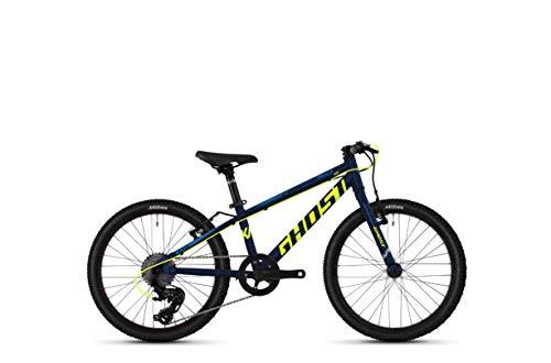 Ghost Kato R1.0 AL U 20R Kinder Mountain Bike 2020 (7cm, Night Blue/Neon Yellow/Riot Blue)
