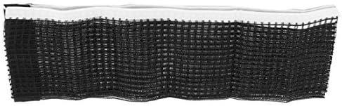 DealMux Nylon dobrável Pingpong Esporte Meshy Ténis de Mesa substituição Net Black White