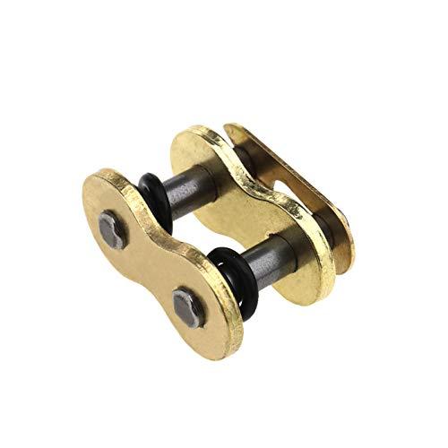 D2D 525 - Remache de cadena de eslabones de oro con anilla en X para motocicleta, piezas de repuesto para cadenas 525VX G&B525VX VX2.