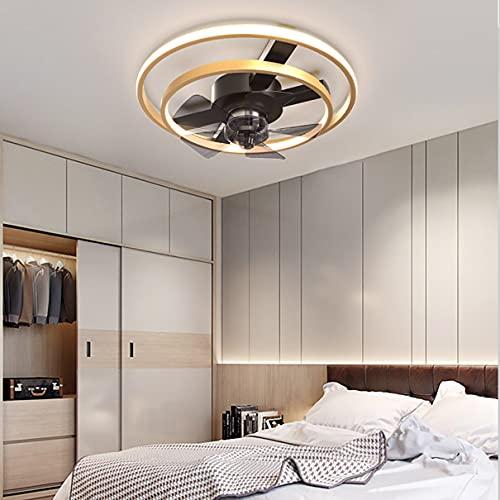 Silencioso Lamparas Ventilador De Techo Infantil Dormitorio LED Regulable 3 Velocidades Ultradelgado Ventilador Techo con Luz Y Mando Sala Ventilador Techo con Luz Y Temporizador