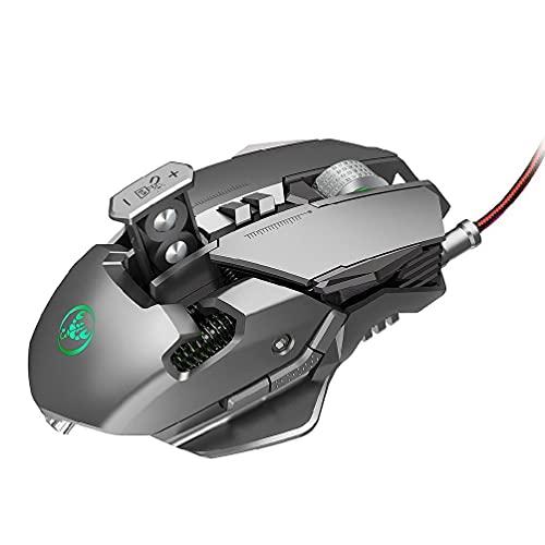 Ratón para juegos con cable, 6400 ppp, accesorio electrónico refrigerado y sensible a la luz, programable para juegos de PC, CF LOL, ratón con cable