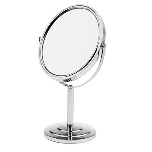 Sharplace Cosmétique Miroir sur Pied Rotatif à 360 Degrés - Miroir à Double Face Normal et Grossissant pour Maquillage