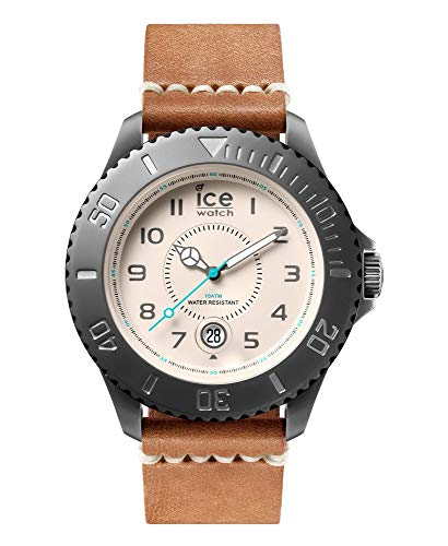 ICE-WATCH Unisex Analog Quarz Uhr mit Leder Armband HE.LBN.GM.B.L.14