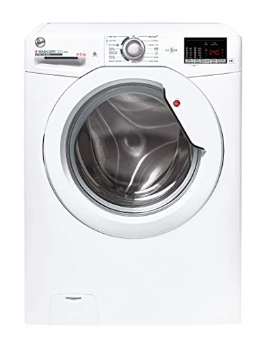 Hoover H-Wash 300 H3D4852DE Freestanding Washer Dryer, Sensor Dry, 8 kg/5 kg, 1400 rpm, White