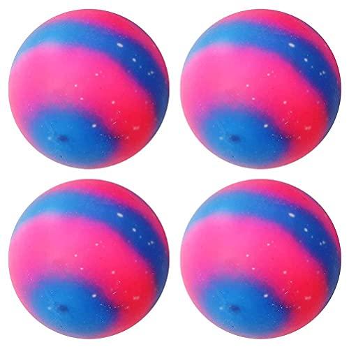 WBTY Bola de amasamiento de palma, bola de estrés de arco iris estrellado anti estrés bolas para alivio de la ansiedad, juguetes sensoriales para autismo, TDAH, juguetes suaves para niños adul