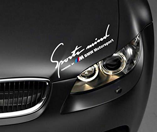 myrockshirt Sportmind by kompatibel für BMW Motorsport 30 cm Aufkleber,Sticker, Autoaufkleber,Auto,Lack,Scheibe, Tuning,