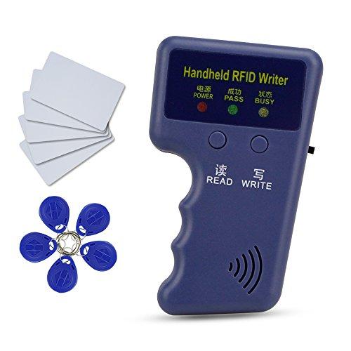 HFeng Neue 125 kHz Hand RFID Kopierer Kartenleser Schriftsteller Duplizierer Programmierer + 10 stücke EM4305 / T5577 schlüssel Karte Token Tags