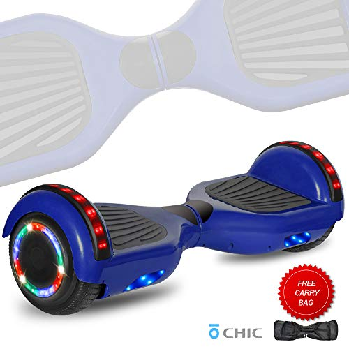 DOC Electric Hoverboard Self-Balancing Hoover Board with Built in Speaker LED Lights Wheels UL2272...