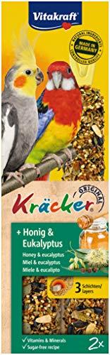 Vitakraft Kräcker für Großsittiche, mit Honig und Eukalyptus (1 x 2 Stück)