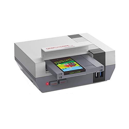 DroiX Funda RETROFLAG NESPi 4; estilo retro NES, Raspberry Pi 4; apagado seguro habilitado; compatible con retropie; 2,5 pulgadas SSD compatible; USB 3.0; Wi-Fi/Ethernet habilitado