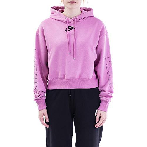 Nike W NSW Air Hoodie FLC BB Hooded Long Sleeve Top Damen XS Rosa/Silber (Magic Flamingo/Ice Silver)