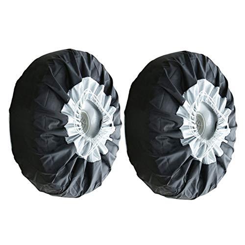 Fundas de rueda de repuesto, universales de 13 a 19 pulgadas, para neumáticos de repuesto, color negro, a prueba de polvo, bolsas de almacenamiento para ruedas (2 unidades)