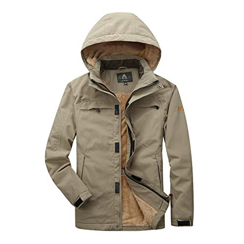 Vectry Abrigo Hombre Chaqueta Moda Hombres Otoño Invierno Bolsillo Botón Down Jacket Top Coat Talla Extra Sudaderas Hombre Blusa Outdoor Casual con Capucha