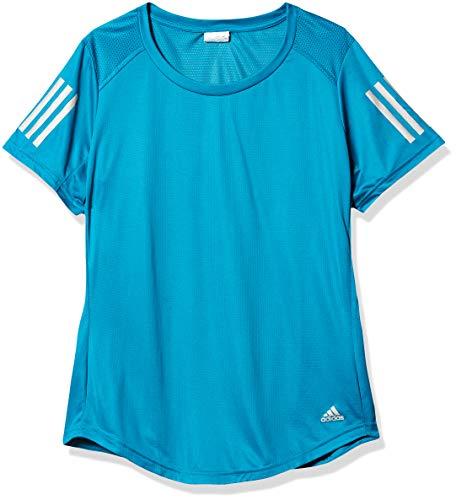 adidas Own the Run - Camiseta de running para mujer - S19080647, playera de correr, 2X, Verde azulado