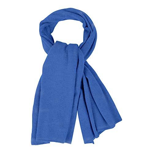 LES POULETTES Echarpe Large 100% Cachemire 2 Fils - Bleu