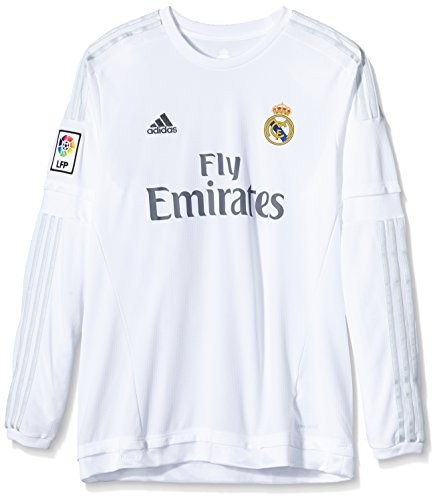 adidas Herren Trikot Real Madrid Heim, White/Clear Grey, S