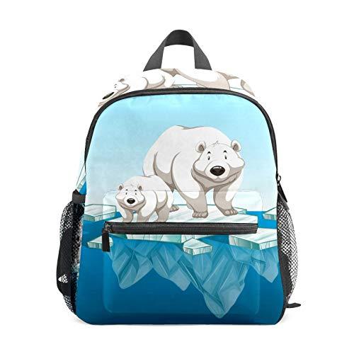Polar Bear Ice Backpack for Girl Boy Children Mini Travel Daypack Primary Preschool Student Bookbag Small School Bag