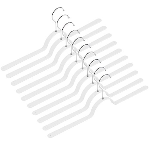 Levivo Kleiderbügel, im 10er Set, Federstahl, weiß, 47 x 2 x cm