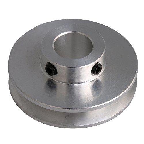 BQLZR 41x16x12 MM Silber Aluminiumlegierung Einzigen Nut 12 MM Feste Laufrolle für Motorwelle 3-5 MM PU Rundriemen