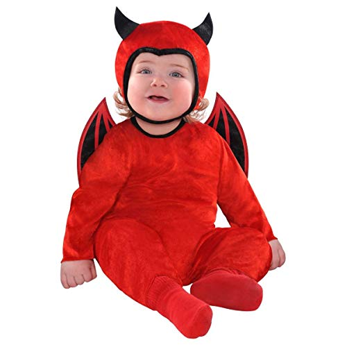 amscan Baby Cute as a Devil Costume - 6-12 Months, Red