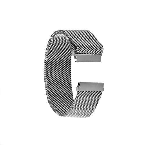 Correa de repuesto para reloj Samsung Gear S3 Frontier Classic de acero inoxidable Milanese magnético, 22 mm