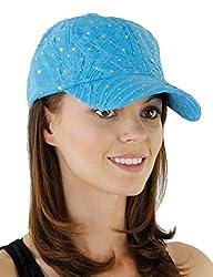 Sequin Turquoise Baseball Cap
