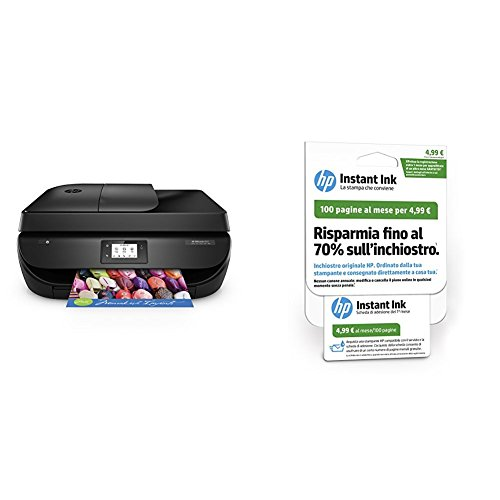 HP OfficeJet 4657 Stampante Multifunzione Wireless, Instant Ink...