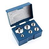 Akozon Grammo kit di calibrazione peso 6Pcs / Set 100g 50g 20g 10g 5g Peso di precisione per bilancia digitale Bilancia per gioielli