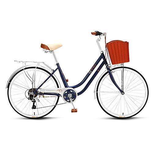 Bicicleta de Velocidad Variable, Bicicleta de CercaníAs, Llanta de 24 Pulgadas, Sistema de 7a Velocidad, Marco de Bajo Alcance de Acero con Alto Contenido de Carbono para Excursiones/B /