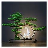 Arbo Artificial Árbol de Bonsai Artificial, 21 pulgadas Potted Casa Artificial Plantas, Planta de Bonsais de Hermosa Brillo Pine Tree Bonsai, Para Decoración Exhibición de Escritorio Planta artificial