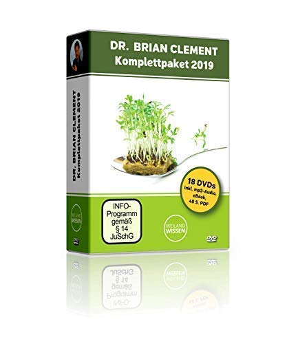 Dr Brian Clement DVD Komplettpaket 2019 – 17 DVDs Box + 1 DVD-ROM mit MP3 Audio...