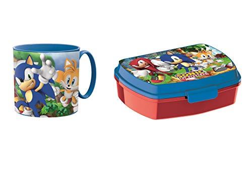 Little Flight Sonic - Taza y fiambrera reutilizable con asa y fiambrera