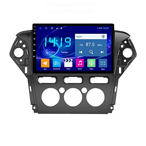 Radio De Navegación Por Satélite Estéreo Para Automóvil FM AM Pantalla Táctil Navegador GPS Soporte Control Del Volante Bluetooth Reproductor WIFI Sopo(Size:4G+64G,Color:Acondicionador de aire manual)