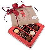 Bengelmann Pralinenbox Weihnachten, handgefertigte Pralines, 9 Stück