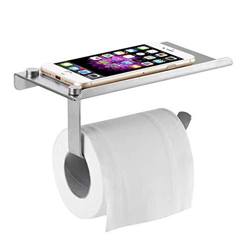TOCYORIC Portarrollos para Papel Higiénico portarrollos baño adhesivo Porta Rollos de Papel Higienico con el Teléfono Móvil Estante de Almacenamiento