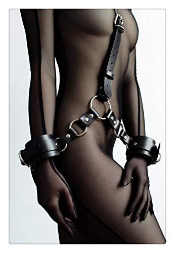 Z-one 1 Cuello de mujer Cuello fresco Hebilla de verano Arn¨¦s Enjaulado Muslo Holster Ligas Harajuku Cintura Anillos g¨®ticos Cintur¨®n con esposas