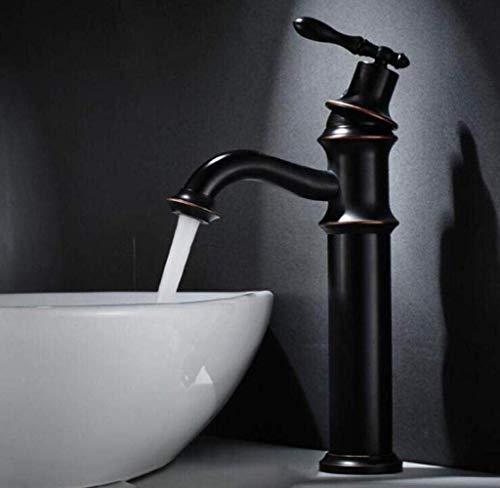 LIANGANAN Cuenca del Grifo grifos de baño Negro Retro del Cuarto de baño grifos de baño del Lavabo del Grifo de Lavabo encimera de Lavabo Cuenca del Grifo (Color: Negro)