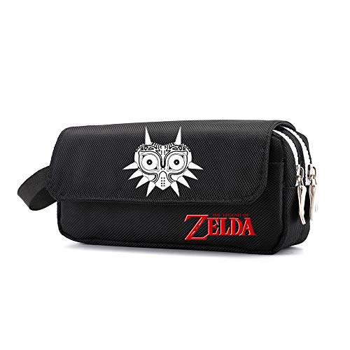 The Legend of Zelda Pencil Cases Classic Simple Pencil Pen Case Waterproof Cosmetic Storage Bag Pouch Purse for Students (Color : Black17, Size : 20 X 6 X 10cm)