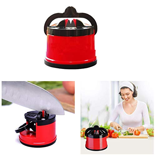 Suction Knife Sharpener, Manual Sharpener Whetstone Sharpener with Suction Cup Kitchen Accessories