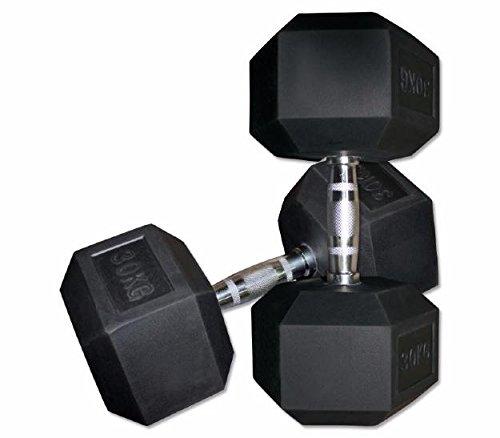 ELJQI - Mancuerna Hexagonal De Goma, Peso: 8 Kg