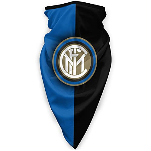 Inter Mi-Lan - Pañuelo para cuello con turbante y protección contra el polvo, color negro y azul