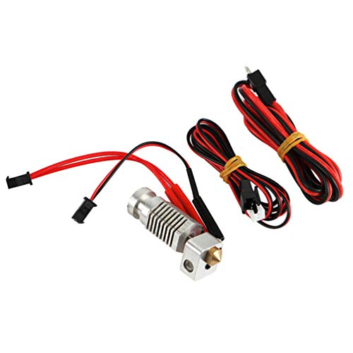 ULTECHNOVO 1 Set 3D Printer Assembled Extruder 12V Hexagon Hot End 0.4mm Nozzle Print Head 100K Thermistor Part Compatible for Robo R1