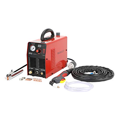 Plasma Cutter, CUT45 40Amp High Frequency 50/60Hz IGBT Inverter Air Plasma Cutting Machine Max Cutting Thickness 10mm (CUT45 220V)