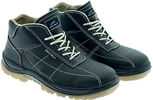 Aboutbleu 2513811LA S3 SRC DGUV 112-191, Vibo, Chaussures de sécurité imperméables, unisexe, vert, cuir, taille 37