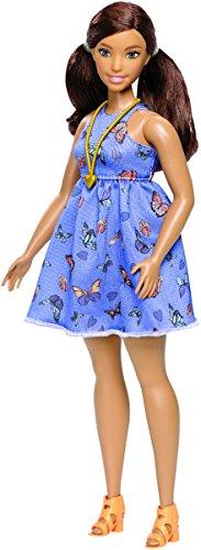 Barbie Fashionista, muñeca curvy con vestido Primavera (Mattel DYY96)